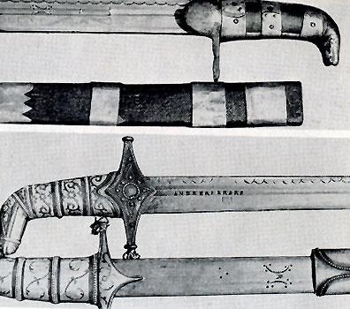 Клейма на хевсурском оружии