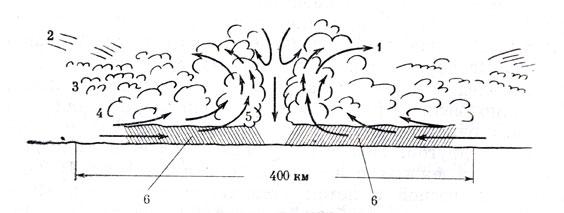 Схема циркуляции потоков