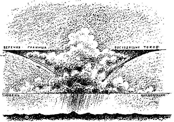 Рис. 92. Характерный вид развившегося грозового облака в виде наковальни