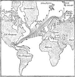 Рис. 43. Карта течений Гольфстрима