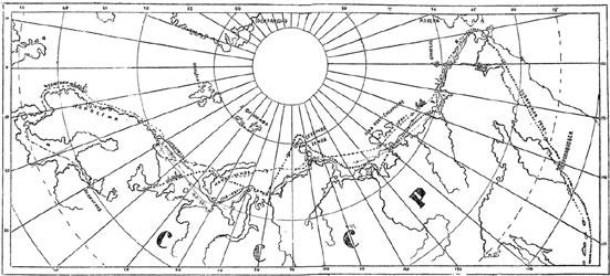 Рис. 59. Карта экспедиций в поисках Северо-восточного прохода