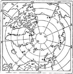 Рис. 57. Карта I Международного полярного года
