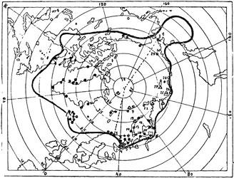 Рис. 58. Карта II Международного полярного года