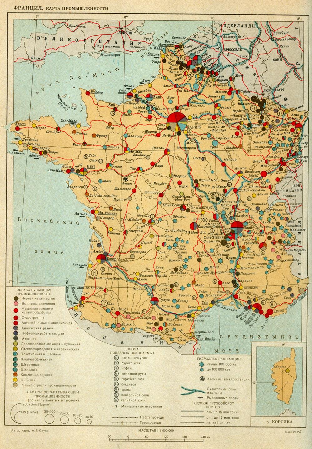 Франция карта промышленности